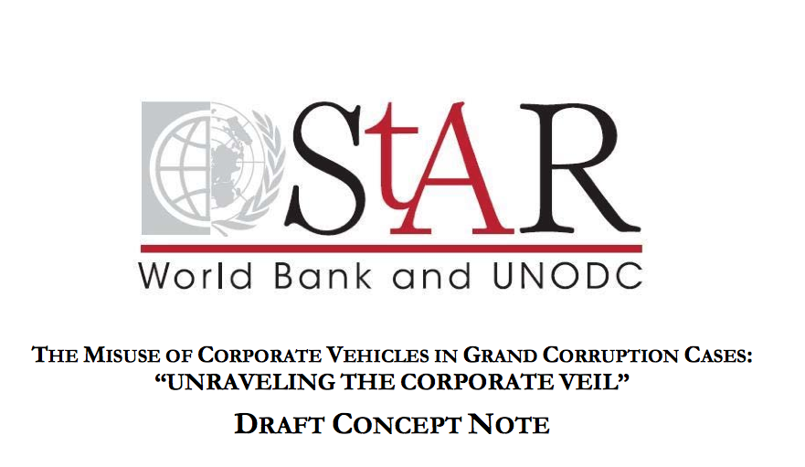 The misuse of corporate vehicles in grand corruption cases